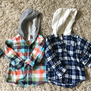 Carters hooded button ups